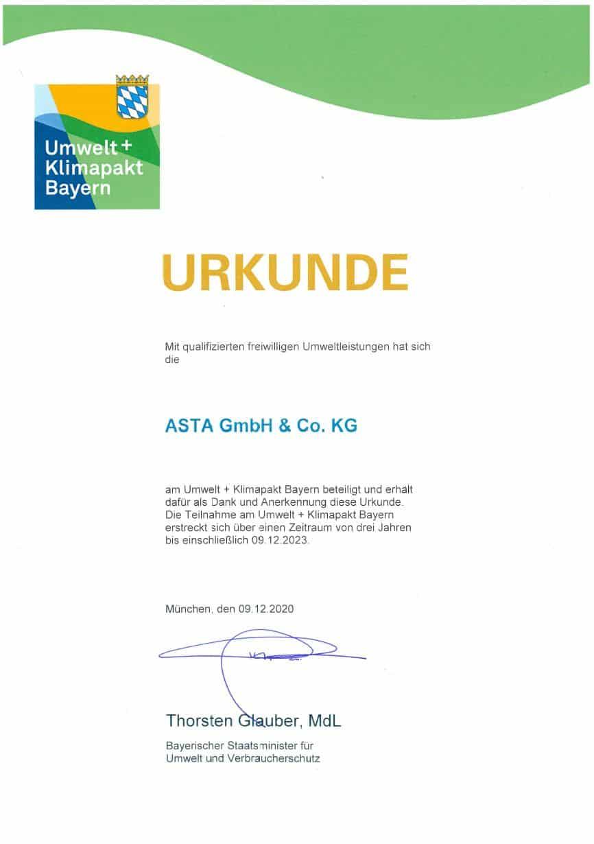Umweltpakt-zertifikat